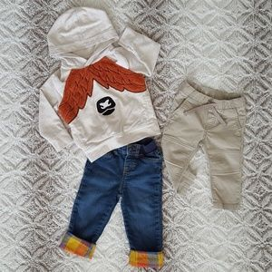 Cat & Jack and Baby b'gosh Clothing Set